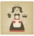 baking concept girl with pie old vector image