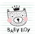 bear baby boy vector image