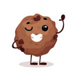 cute funny donut cartoon character vector image