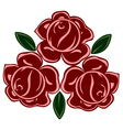 isolated of retro roses vector image