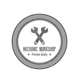 Mechanic Label vector image