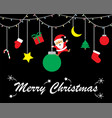 merry christmas - santa claus swinging from vector image