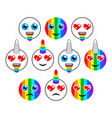 unicorns characters emoticons or emoji smiles vector image