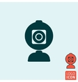 Web camera icon isolated vector image