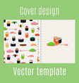cover design with sushi pattern