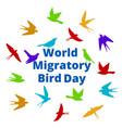 world migratory bird day vector image vector image