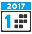 2017 First Day Flat Icon vector image