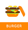 Fresh burger Traditional american burger with vector image