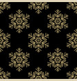 christmas seamless pattern with golden snowflakes vector image