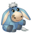cute donkey - old childrens stuffed toy with patch vector image