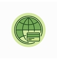Global payment green icon vector image