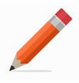 pencil flat design icon school education vector image