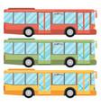 Set of bus vectors vector image