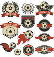 Set of the soccer club emblems design element vector image