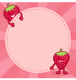 Strawberry Character Notes vector image