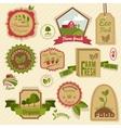 Vintage organic labels vector image