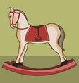 Wooden horse vector image