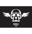 skull logo wings vector image