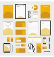 Orange circles corporate style template vector image vector image