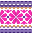 geometry pattern with flowers vector image