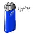 Lighter cartoon sketch vector image vector image