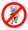prohibition of mouse and rodents vector image