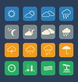 weather icons set flat design for website and vector image