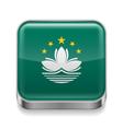 Metal icon of Macau vector image vector image