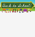 Back to School design with text space vector image