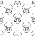 Smiling baker or chef seamless pattern vector image vector image