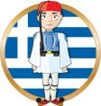 Greek evzone with flag vector image vector image