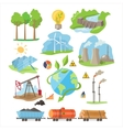 Energy Eco Resources Set vector image