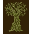 Abstract tree with a curling barrel vector image