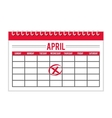 calendar timestamped tax isolated icon design vector image