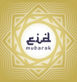 decorative eid mubarak background vector image