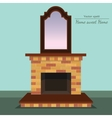 fireplace Antique mirror Home sweet home vector image