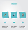 flat icons audio box fiddle karaoke and other vector image