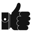 hand excellent icon simple black style vector image