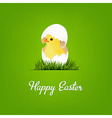 Happy Easter Card With Chicken vector image