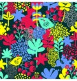 Seamless pattern with bird in the forest vector image