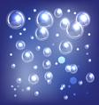 shiny blue bubbles vector image