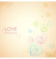 Sketchy Heart in Love Background vector image