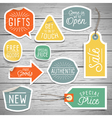 slogans stickers for retail vector image vector image