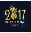 Banner with Lettering 2017 Chinese New Year vector image vector image
