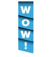 Wow message ribbon vector image