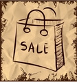Sale bag icon on vintage background vector image vector image
