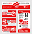 blood donation or aids day posters vector image vector image