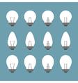 Light bulbs and Bulb icon set vector image vector image