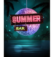 Summer disco background Disco poster vector image