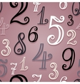 Seamless Pattern with Vintage Numbers vector image